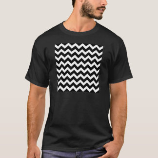 Artistic zigzag Black and white T-Shirt