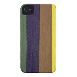 Artistically Designed Masculine Strips of Color iPhone 4 Case-Mate Case