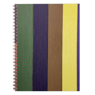 Artistically Designed Masculine Strips of Color Note Books
