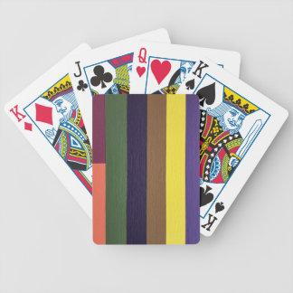 Artistically Designed Masculine Strips of Color Poker Deck