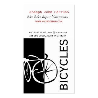 Artistique blanc de vélo de noir classique de carte de visite standard