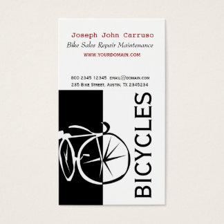 Artistique blanc de vélo de noir classique de cartes de visite