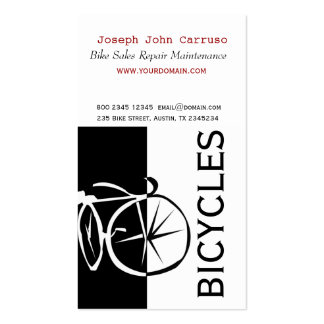 Artistique blanc de vélo de noir classique de conc modèle de carte de visite