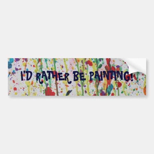 Artists Bumper Sticker