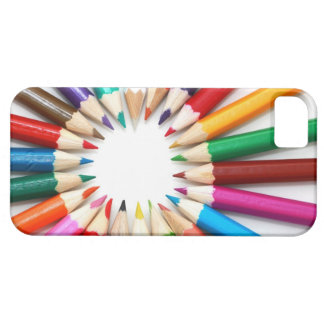 Artist's colored pencils rainbow graphic photo  iPhone 5 case