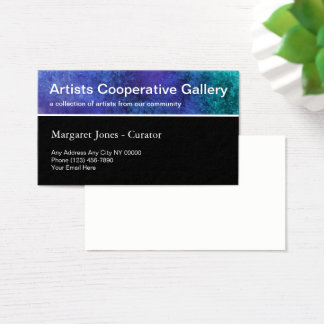 Artists Cooperative Community Business Card
