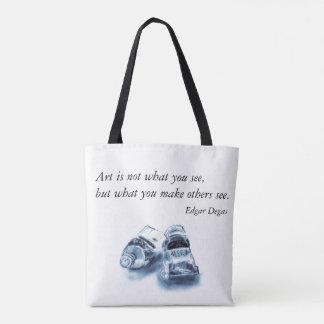 Artists Paint Bag, Edgar Degas Quote Tote Bag