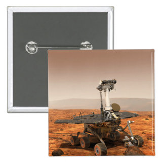 Artists rendition of Mars Rover 2 Inch Square Button