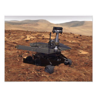 Artists rendition of Mars Rover Photograph