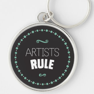 Artists Rule – Black Keychain