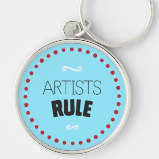 Artists Rule – Blue Keychain
