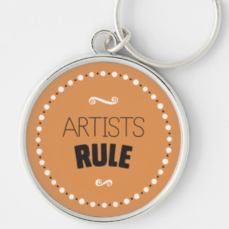 Artists Rule – Editable Background Keychain