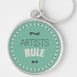 Artists Rule – Green Keychain