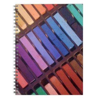 Artist's Soft Chalk Pastels Spiral Note Books
