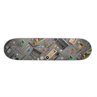 Artist's supplies skate board deck