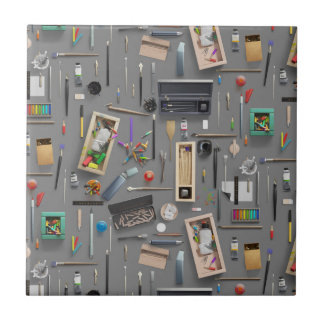 Artist's supplies tile