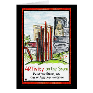 ARTivity on the Green Greeting Card