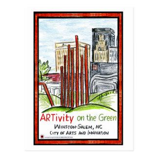 ARTivity on the Green Postcard