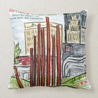 ARTivity on the Green Throw Pillow