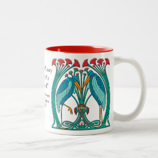 Arts and Crafts Cranes v1 Two-Tone Coffee Mug