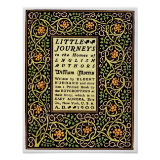 Arts And Crafts movement 1900 book cover design Poster