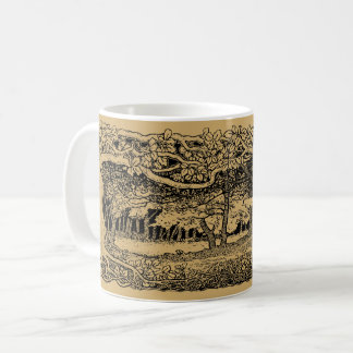 Arts And Crafts style Wild Forrest Coffee Mug