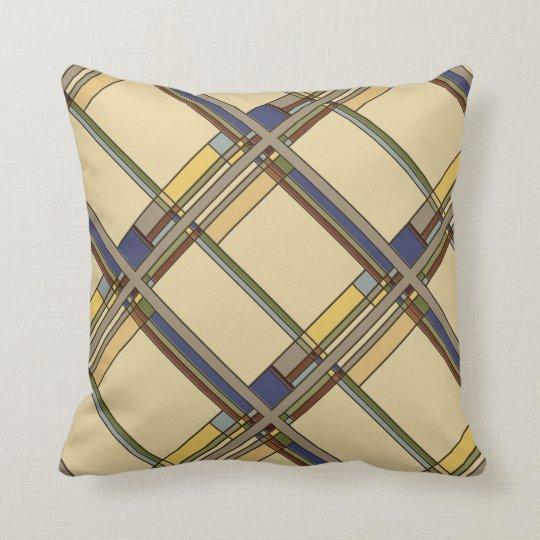 Arts & Crafts Fall Geometric Pattern Throw Pillow