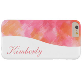 Artsy Abstract Monogram Style Barely There iPhone 6 Plus Case