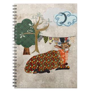 Artsy Addax Blue Moon Notebook