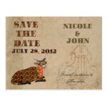 Artsy Addax Save the Date Postcard