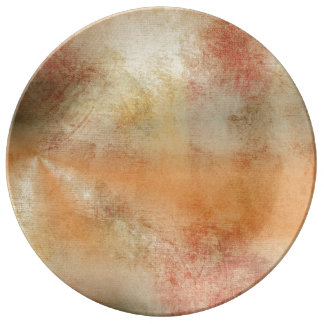 Artsy Autumn Abstract Plate