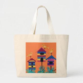 Artsy Birdhouse design tote