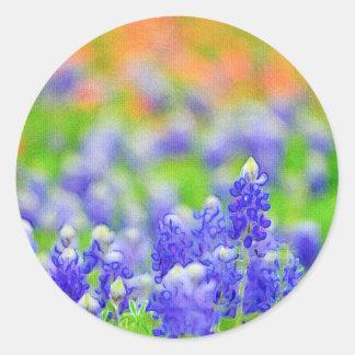 Artsy Bluebonnet and Indian Paintbrush Sticker