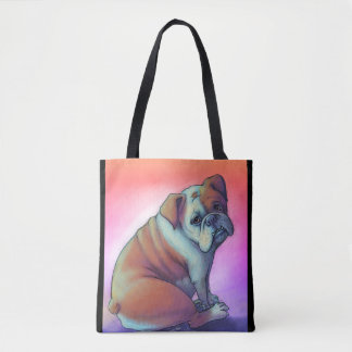 Artsy Bulldog Tote Bag