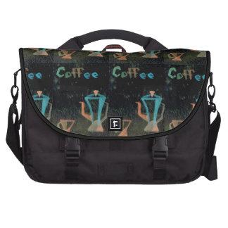 Artsy Coffee Black Messenger Bag Laptop Bag