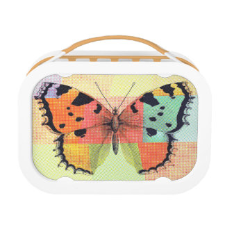 Artsy Colored Butterfly Lunch Boxes