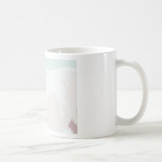 Artsy Cutout Polar Bear in Snow Classic White Coffee Mug