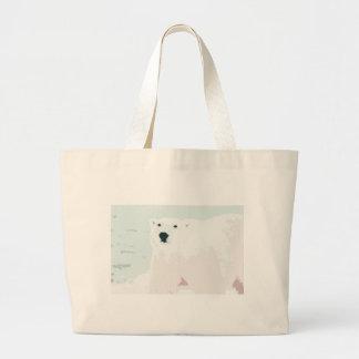 Artsy Cutout Polar Bear in Snow Jumbo Tote Bag