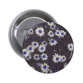 Artsy Daisies 2 Inch Round Button