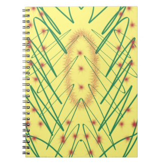 Artsy design spiral notebook