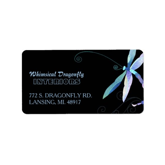Artsy Dragonfly Business Address Label