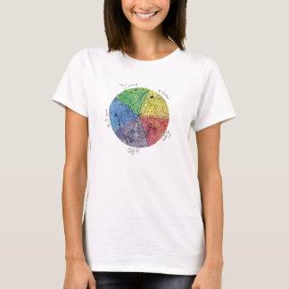 Artsy Earth Elements Hand Illustrated Pen Art T-Shirt