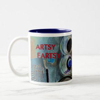 ARTSY FARTSY Two-Tone COFFEE MUG