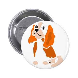 Artsy Fun Cavalier King Charles Spaniel Abstract 2 Inch Round Button