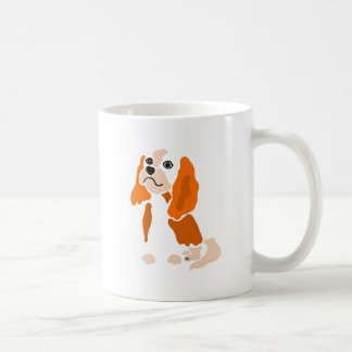 Artsy Fun Cavalier King Charles Spaniel Abstract Coffee Mug