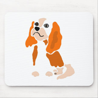 Artsy Fun Cavalier King Charles Spaniel Abstract Mouse Pad