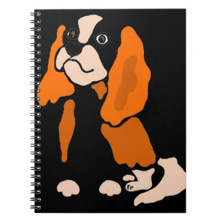 Artsy Fun Cavalier King Charles Spaniel Abstract Note Books