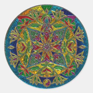 Artsy Glassy Colorful Mandala Sticker