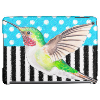 Artsy Hummingbird Blue Cover For iPad Air