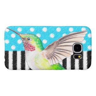 Artsy Hummingbird Blue Samsung Galaxy S6 Cases